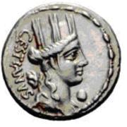 Glosario de monedas romanas. CORONA MURAL. Image