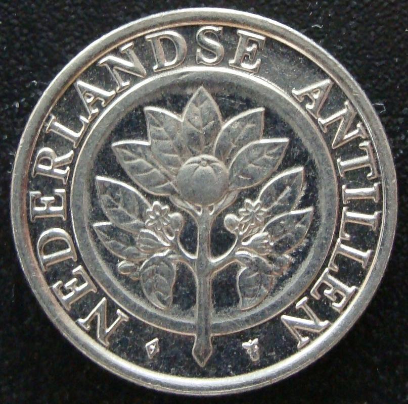 25 Centavos Florín. Antillas Holandesas (1992) AHO._25_Centavos_Flor_n_1992_-_anv