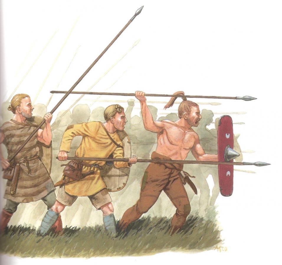 Les germains historiques, aide à l'image et à la conversion Spearman