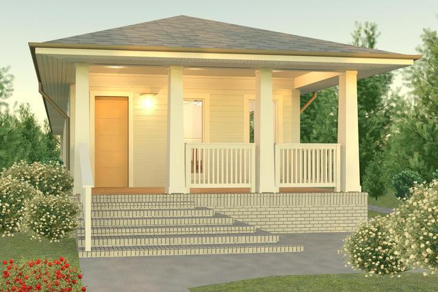 Stavba podle půdorysu Houseplan 1-real_zepredu