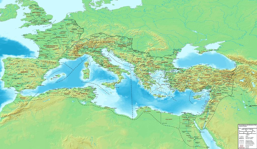 Antoninianos del Imperio Galo-Romano The_Roman_Empire_ca_400_AD