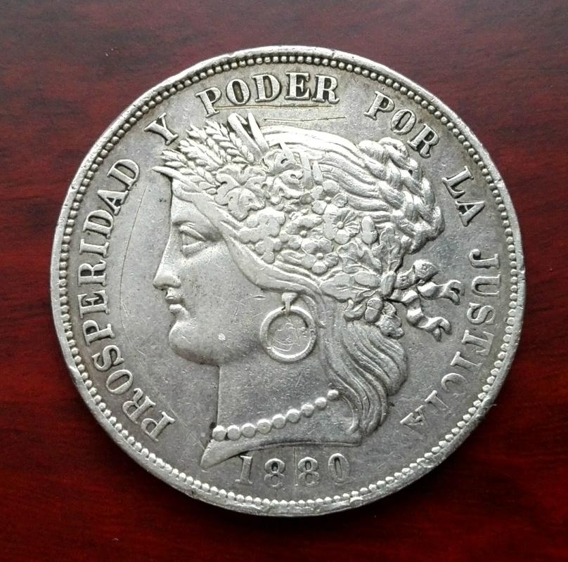 5 pesetas 1880, Perú (dedicado a Koldomi) IMG_20170708_162742