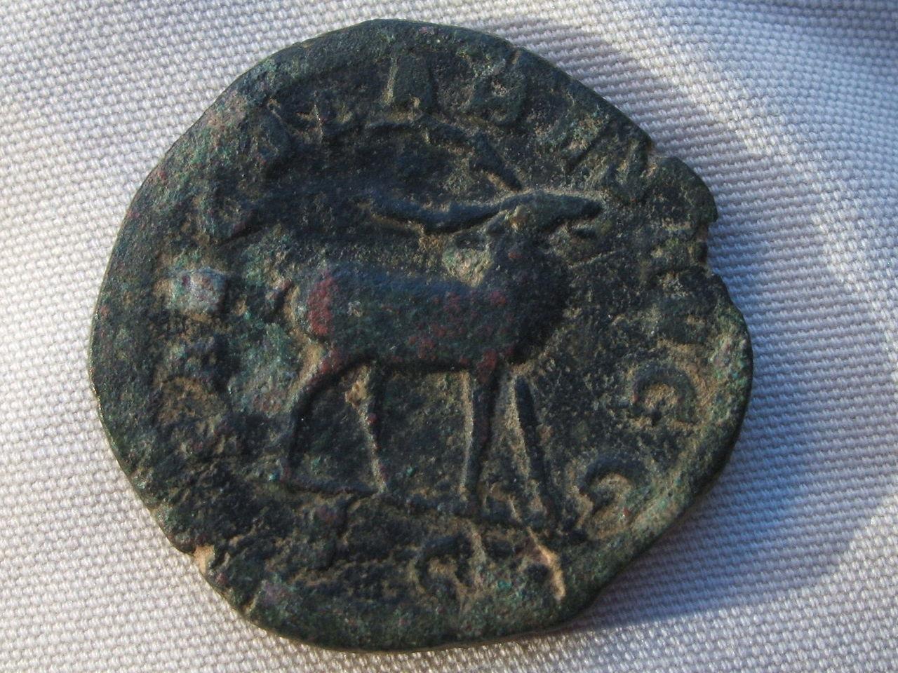 Sestercio de Filipo I - SAECVLARES AVGG S C - Ciervo. Roma 037
