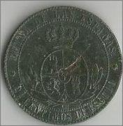 2 1/2 Centimos de Escudo 1867 ISABEL II - Sevilla 8znvqp