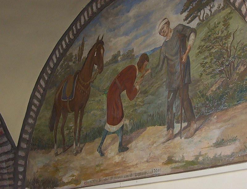 UNA VISITA AL MUSEO DEL CONVENTO DE SAN FRANCISCO SALTA Mural_leproso
