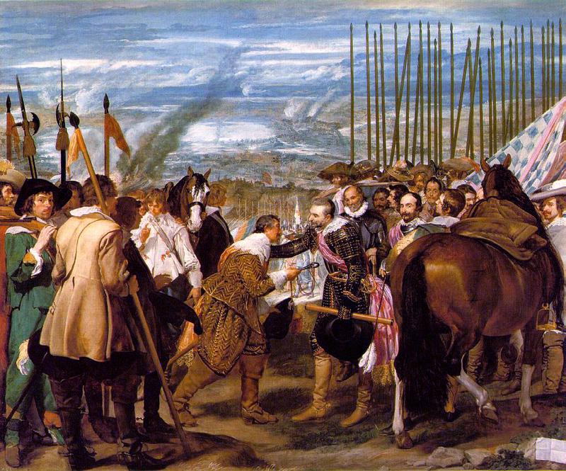 Jetón de Felipe IV. Bruselas. 1634. Francisco de Moncada levanta el Sitio de Breda. Rendicion_de_breda_velazquez_1