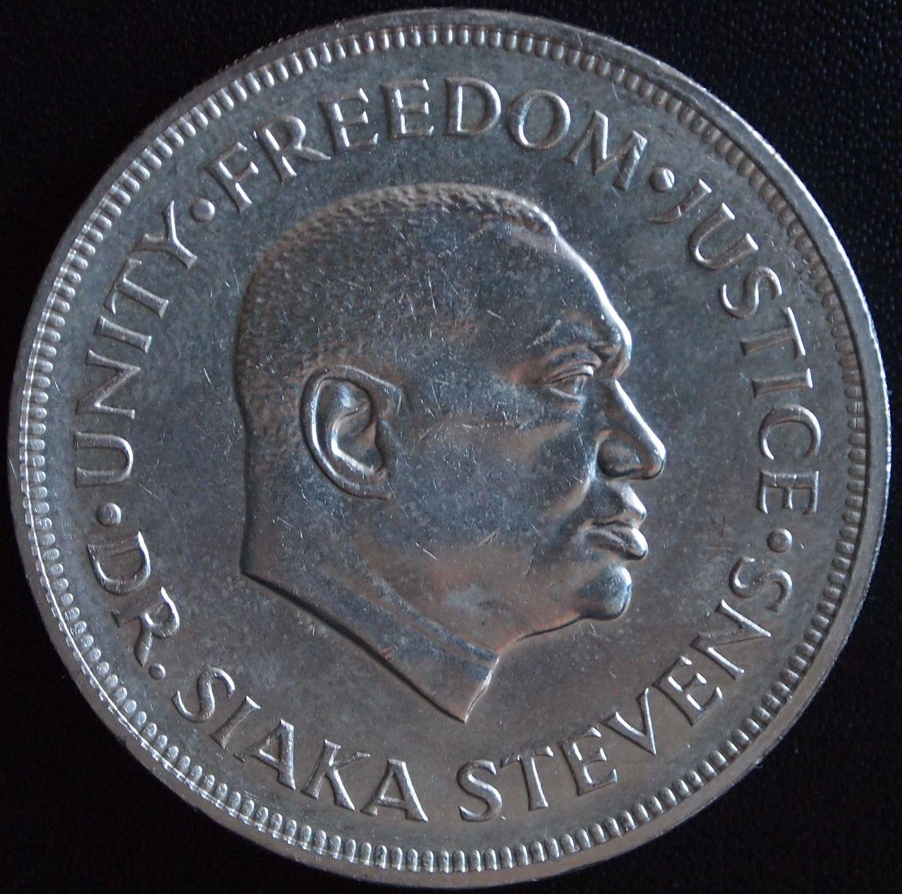1 leone sierra leona 1974 1