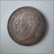5 pesetas 1882*18*82 MS-M Alfonso XII Image
