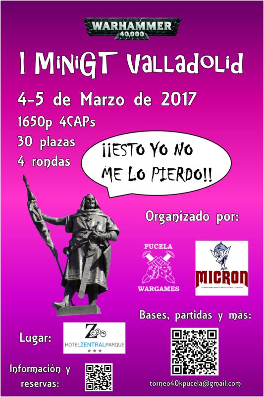 I MiniGT Valladolid warhammer 40k 1650p 4 y 5 de marzo de 2017 Poster2def