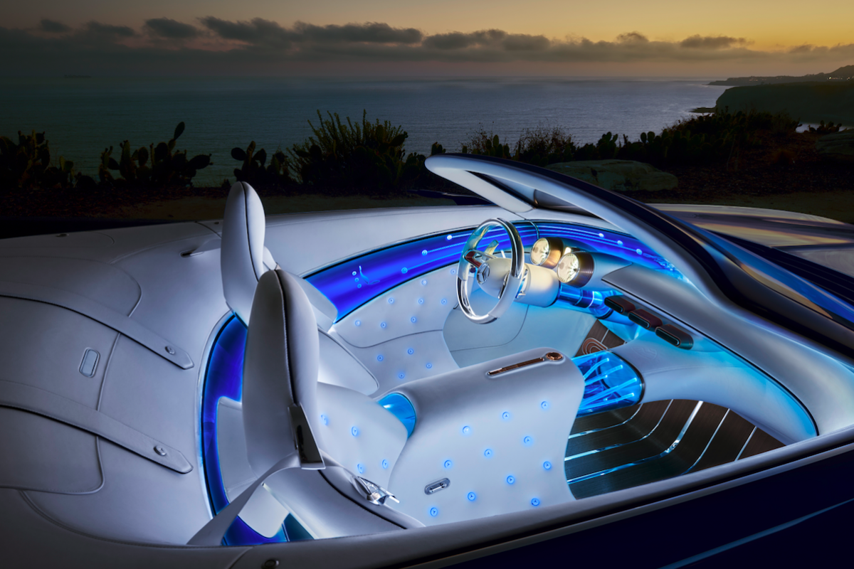 Maybach X tesla Inside-the-maybach-is-covered-in-white-nappa-lea