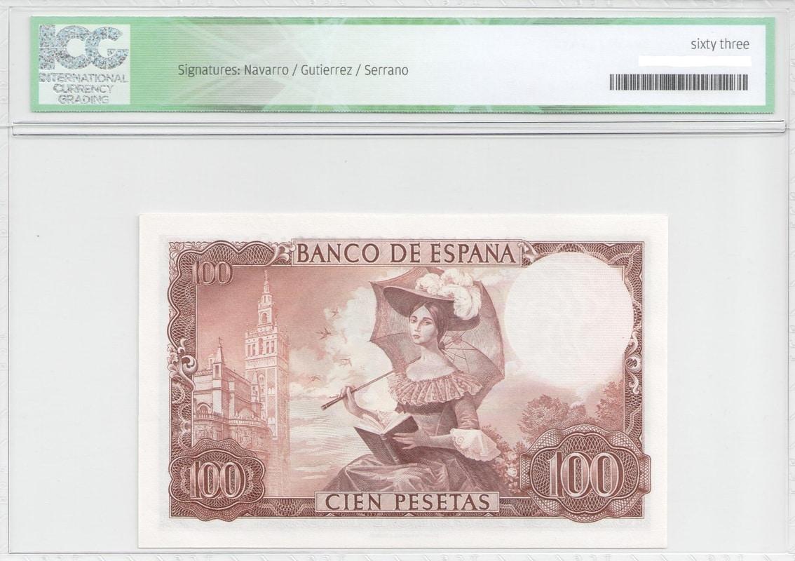 Colección de billetes españoles, sin serie o serie A de Sefcor - Página 2 100_del_65_reverso