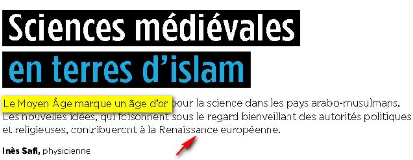 science et islam sont compatibles Image