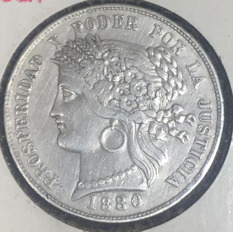 """Mi primera moneda de colección 5 pesetas 1880 Perú """"La Moñona"""" 5_pesetas_1880_A"""