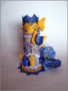 Скрапбукинг. Голубой мак, карандашница или декорваза для сухоцветов. 1_DSCF1976