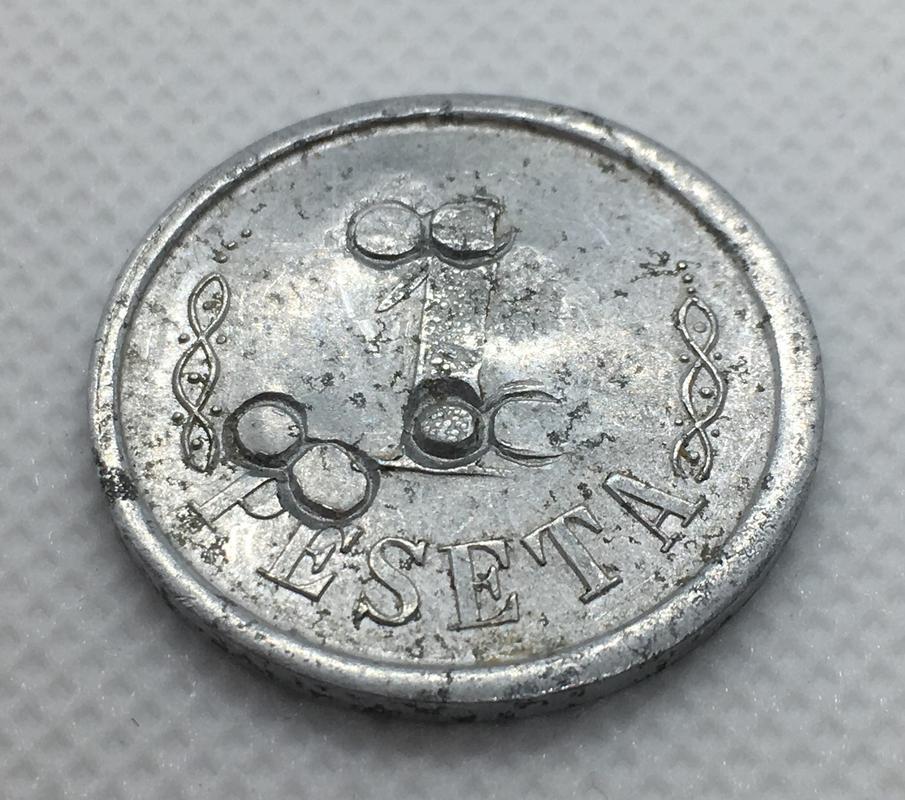 1 peseta 1937 L'Ametlla del Vallés. Guerra Civil. Emisión Local. Resellos 8. E42757_C5-8_AA4-41_A8-9460-_EDDC8_D44_A9_A5