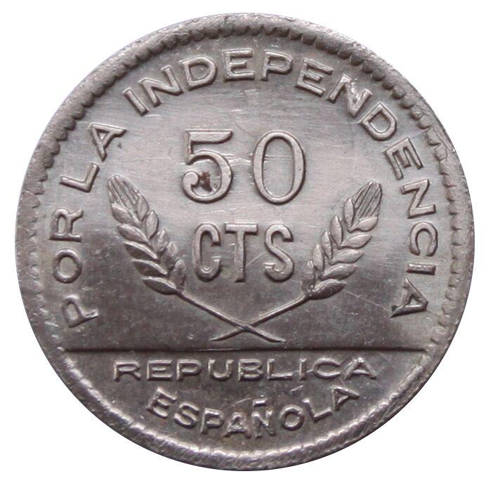 Prueba de oro de los 50 Cts. del Consejo de Santander, Palencia y  Burgos 5_B