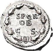Glosario de monedas romanas. CORONA DE ROBLES O CÍVICA. Image