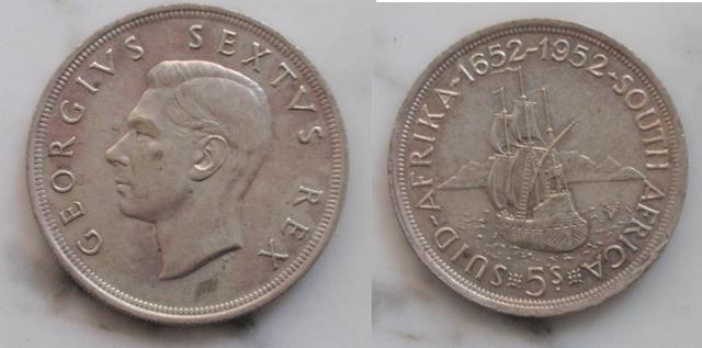 5 Schillings 1952 de Sudáfrica (keko dedit) 0_0_5_S_1952