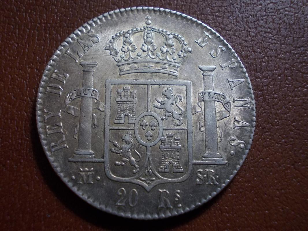 20 Reales 1822. Fernando VII. Madrid DSCN2440