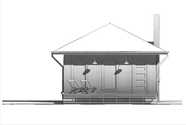 Stavba podle půdorysu Houseplan 1-zezadu