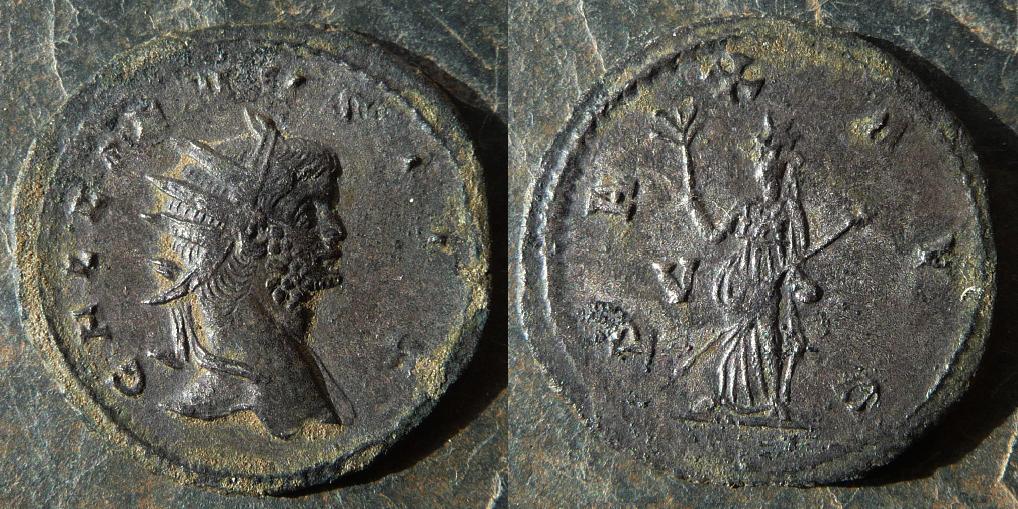 Antoniniano de Galieno. PAX AVG. Pax estante a izq. Roma. Image