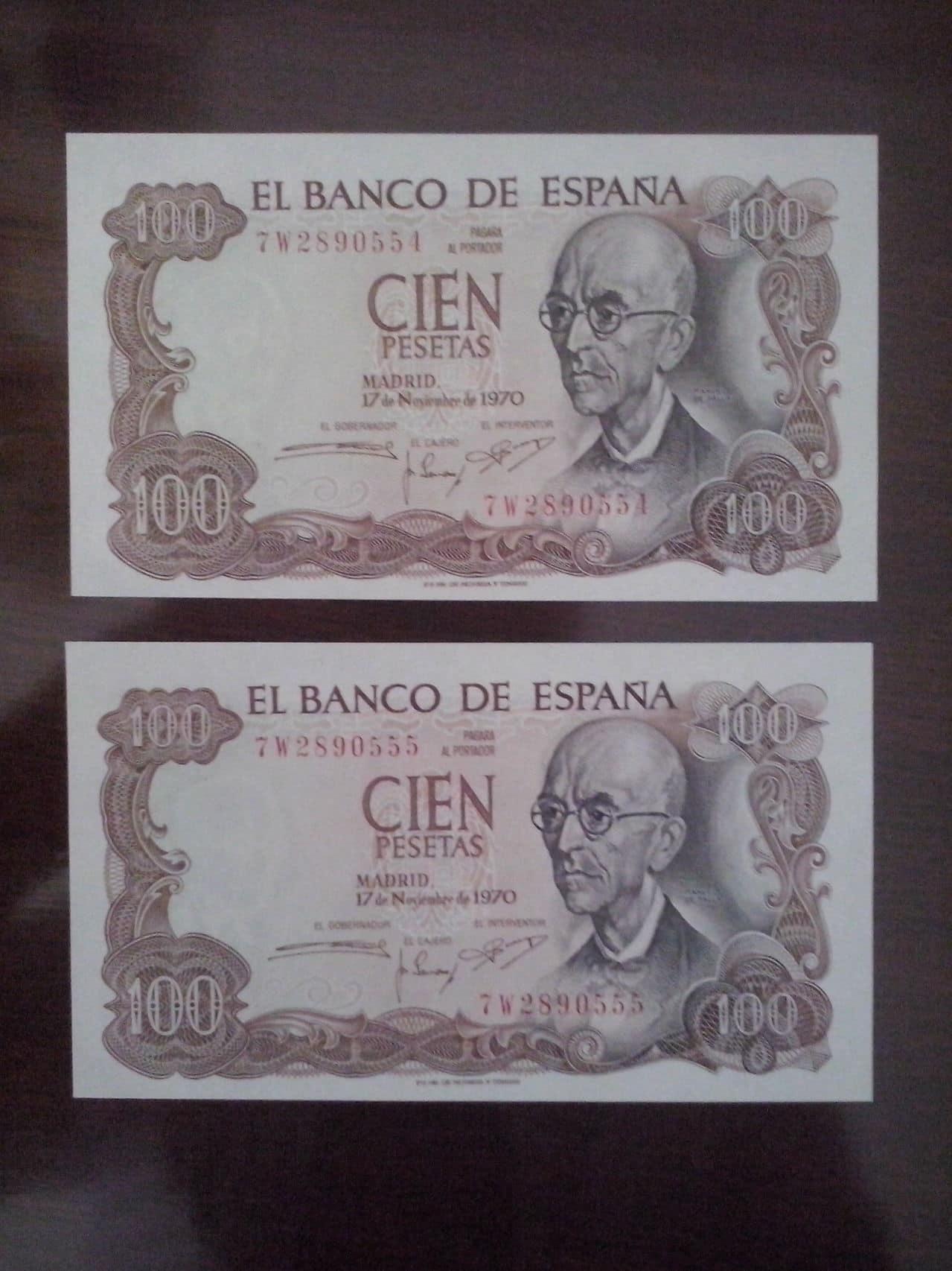 100 Pesetas 1970 (Dos Parejas) CAM00110