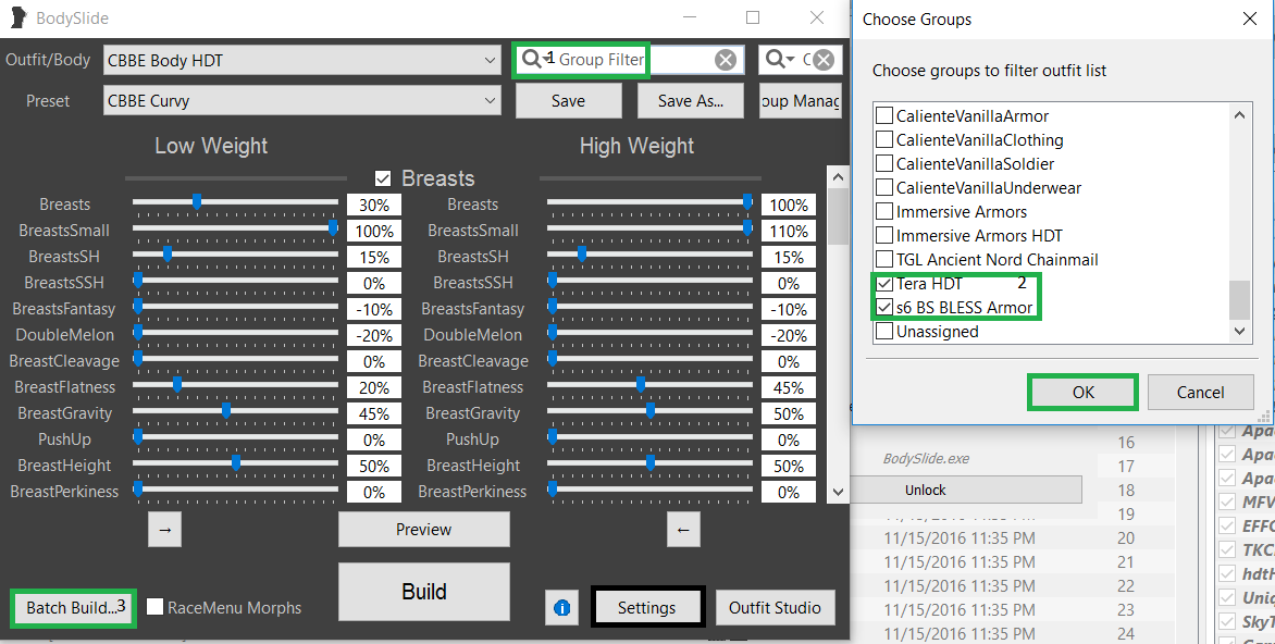 Tera Armors Bodyslide/HDT conversions Capture