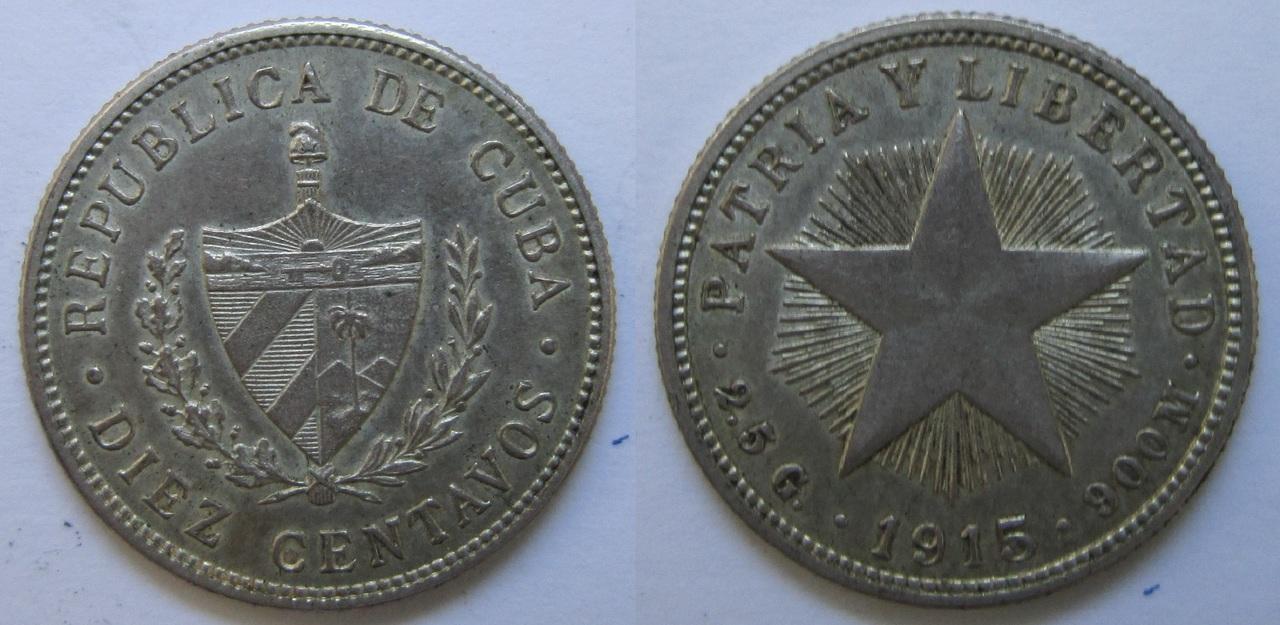 10 Centavos. Cuba 1915. Philadelphia 10_centavos_Cuba_1915