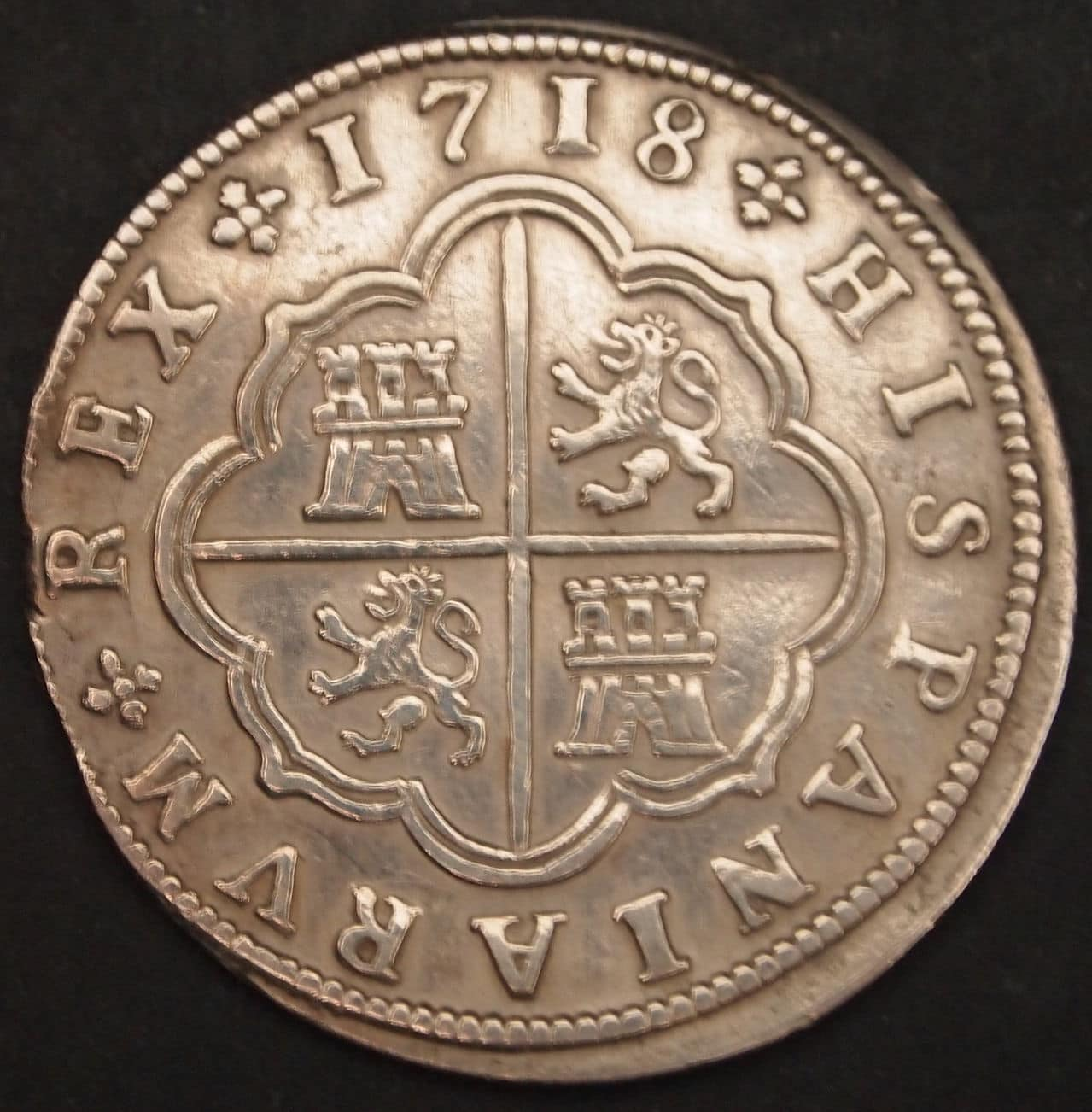 2 reales Felipe V 1718 2