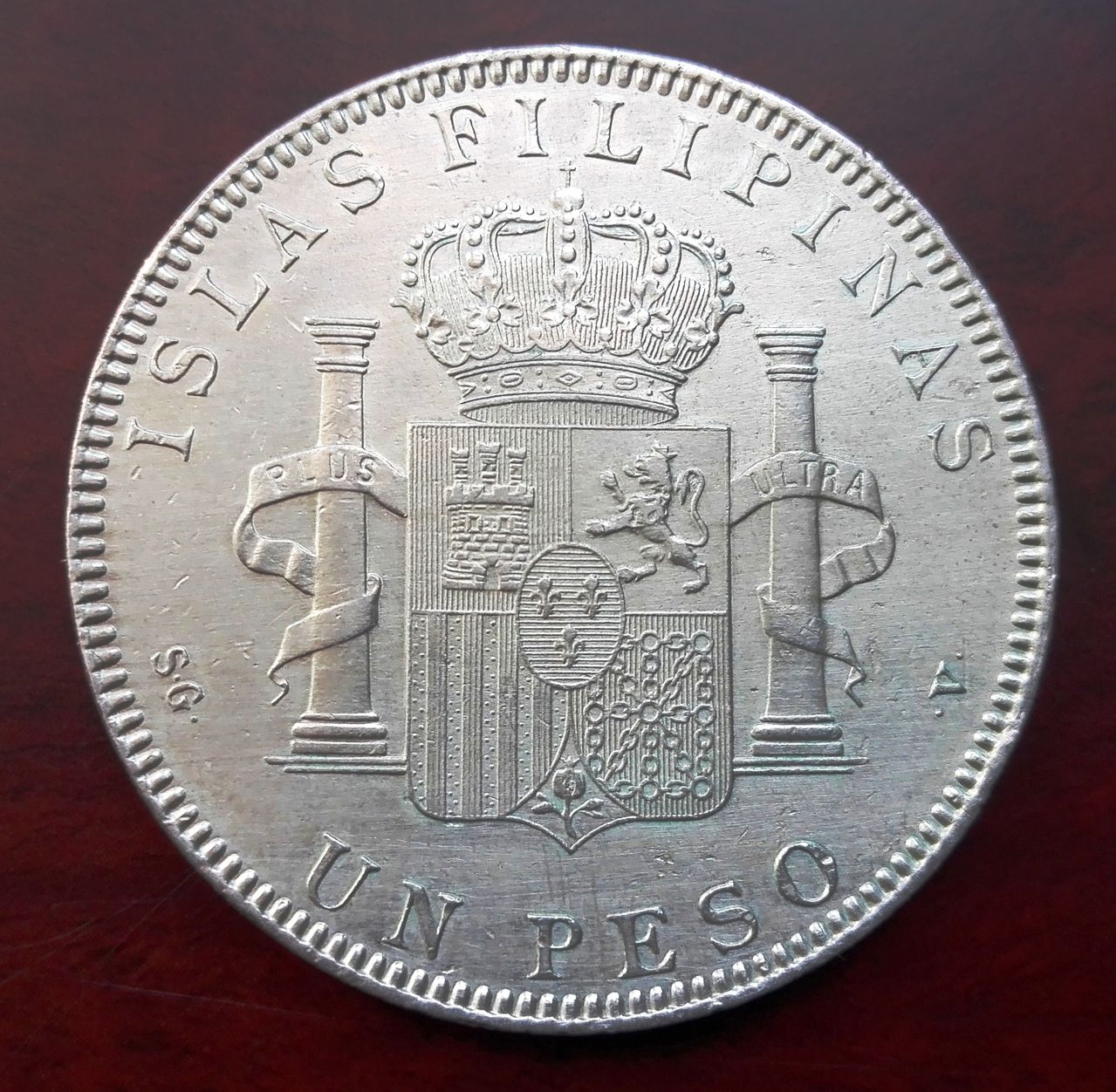 1 peso Filipinas 1897, Alfonso XIII  1_peso_fiolipnas_4