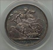 1 Crown 1887 -VICTORIA -  INGLATERRA  Image