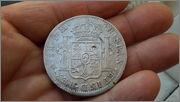 8 Reales 1796 CarlosIV Ceca mejico FM.  con resellos  20141229_164123