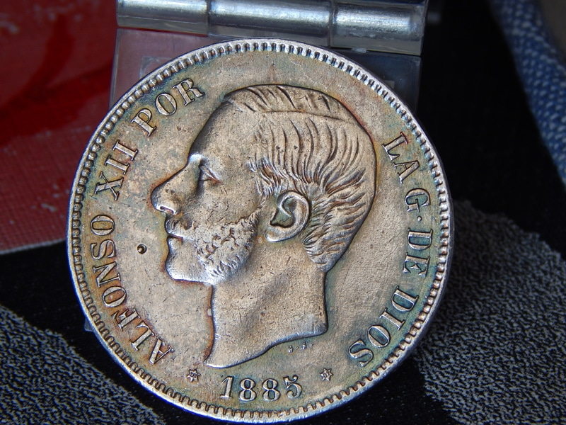 5 pesetas 1885 (18* 87*). Alfonso XII DSCN2393