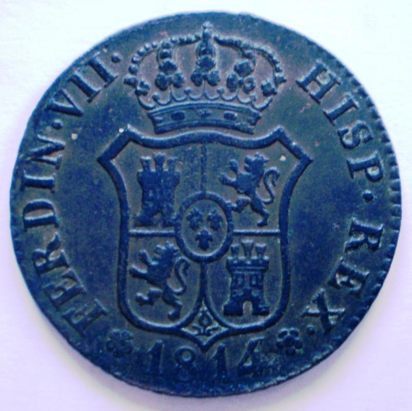 Fernando VII 6 Cuartos de 1814 Principado de Cataluña 010