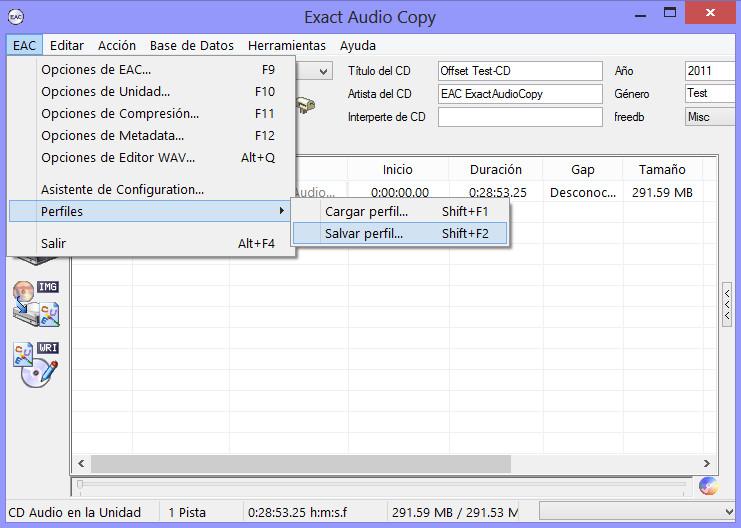 Como hacer una copia exacta de un CD de audio con EAC EAC13