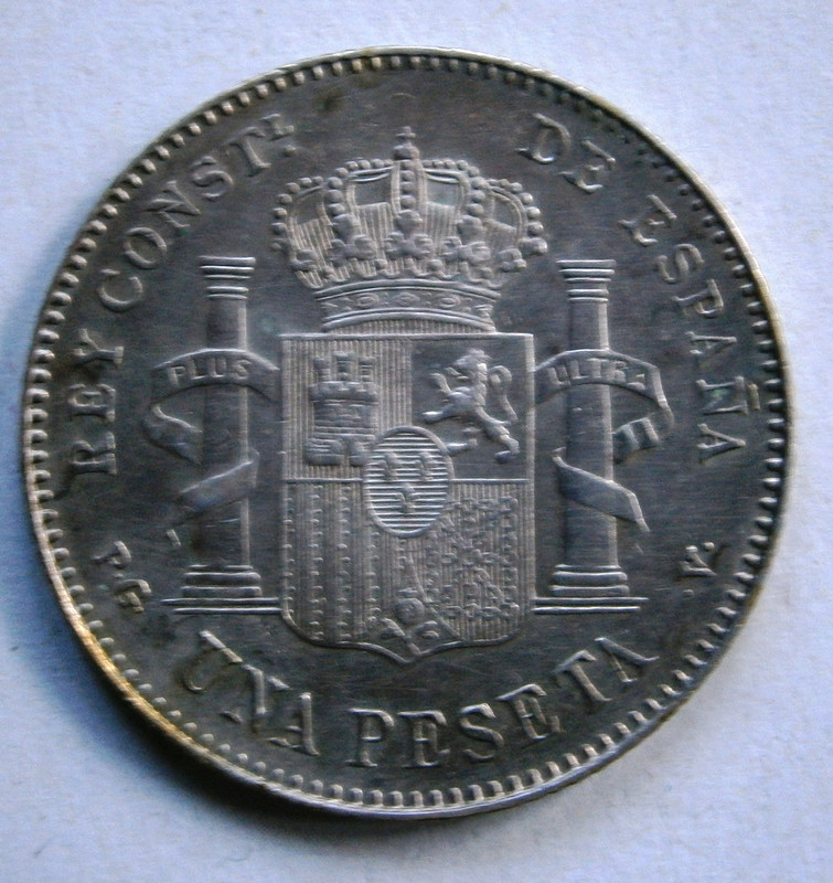 Alfonso XIII 1 Peseta 1896 * 96 P1010036