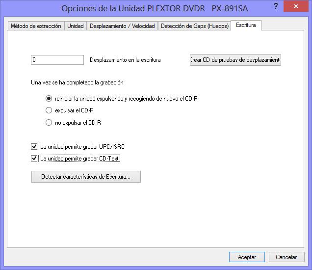 Como hacer una copia exacta de un CD de audio con EAC EAC05