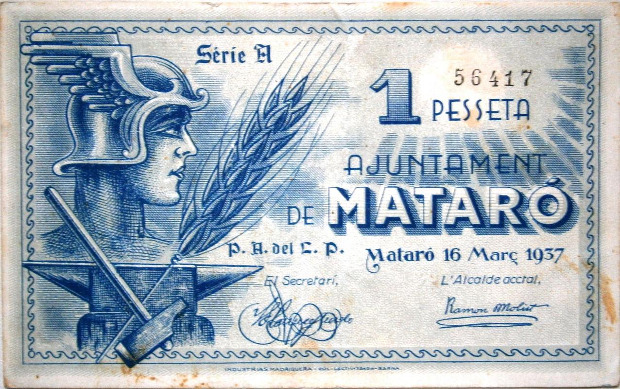 1 Peseta Mataro, 1937 Guerra Civil P1010086