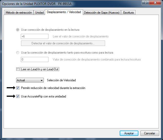 Como hacer una copia exacta de un CD de audio con EAC Opciones_unidad