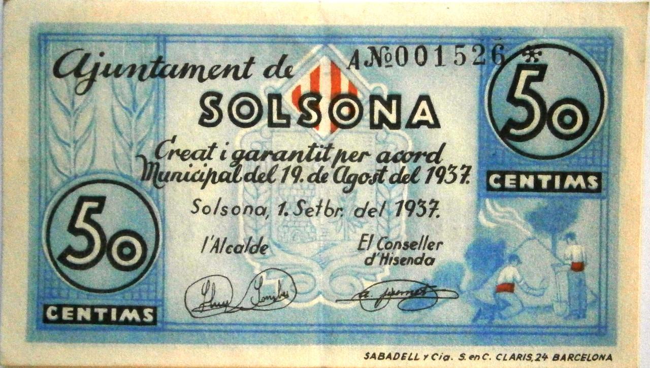 50 Céntimos Solsona, 1937 Guerra Civil  P1010004