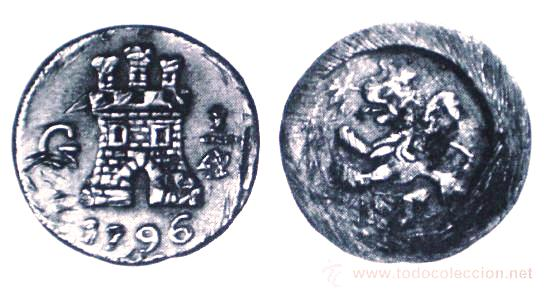 1/4 de Real 1796. Carlos IV. Guatemala 1_real