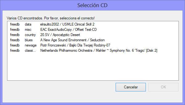 Como hacer una copia exacta de un CD de audio con EAC EAC003
