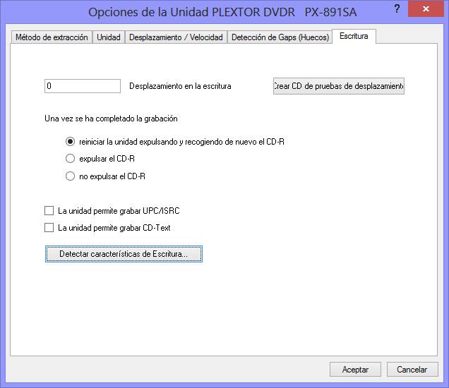 Como hacer una copia exacta de un CD de audio con EAC EAC02