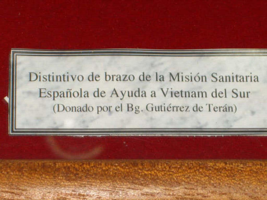 ESPAÑOLES EN VIETNAM - Historia, Cascos y Uniformes. Museo_BRIPAC_Gutierrez_de_Teran_002