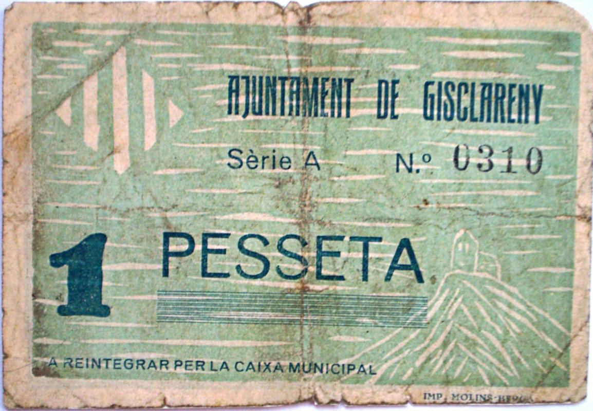 Gisclareny 1 Peseta 1937 Guerra Civil 004
