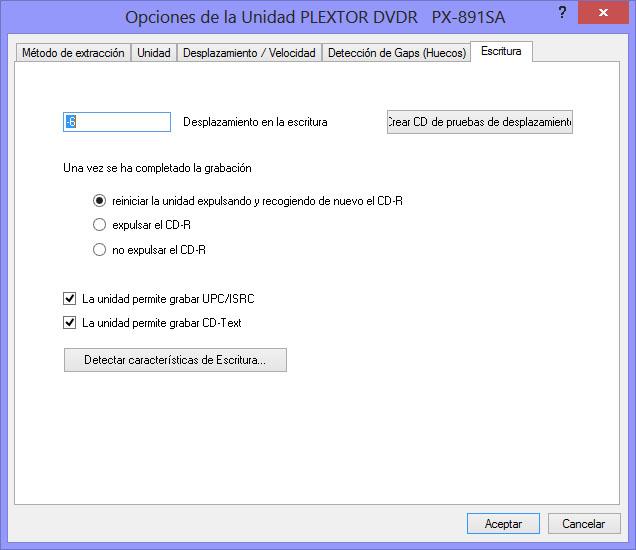 Como hacer una copia exacta de un CD de audio con EAC EAC10