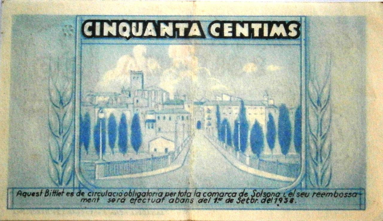 50 Céntimos Solsona, 1937 Guerra Civil  P1010005