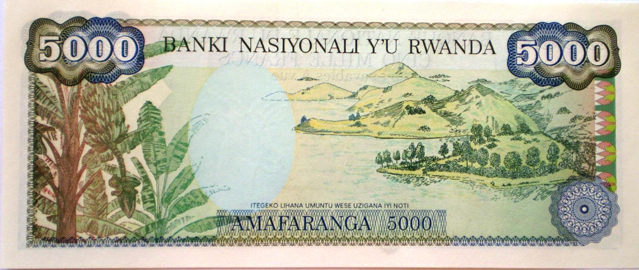 5000 Francos de de la Republica de Ruanda 012