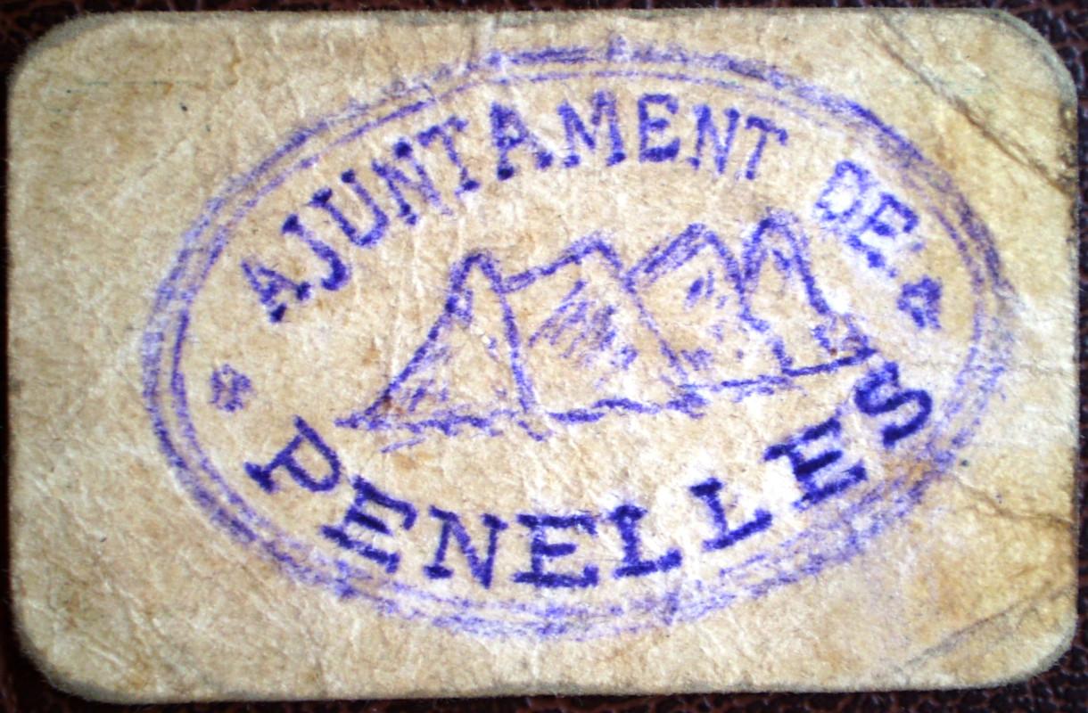1 Peseta Ajuntament de Penelles Lerida (Guerra Civil) 007