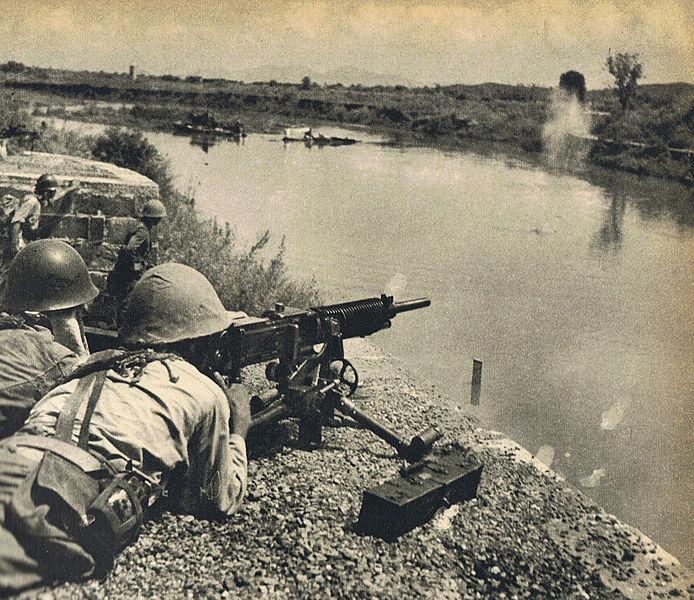 Ametralladora Hotchkiss M1914 AMET_HOT_T92_ACCION